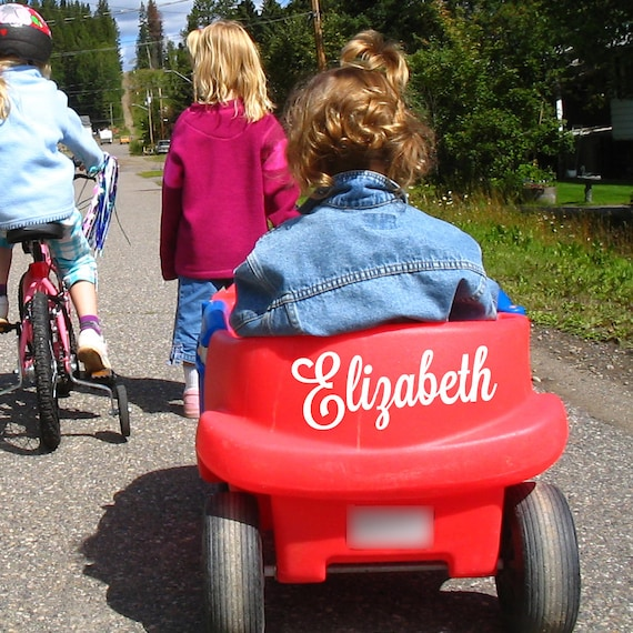Wagon Decal: personalized // ride on toy // power wheels // tricycle // bike // bicycle // sled //