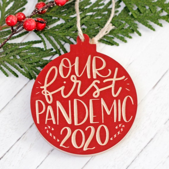 2020 Christmas Ornament / Our First Pandemic Ornament / Funny 2020 ornament / Christmas  Decoration 2020