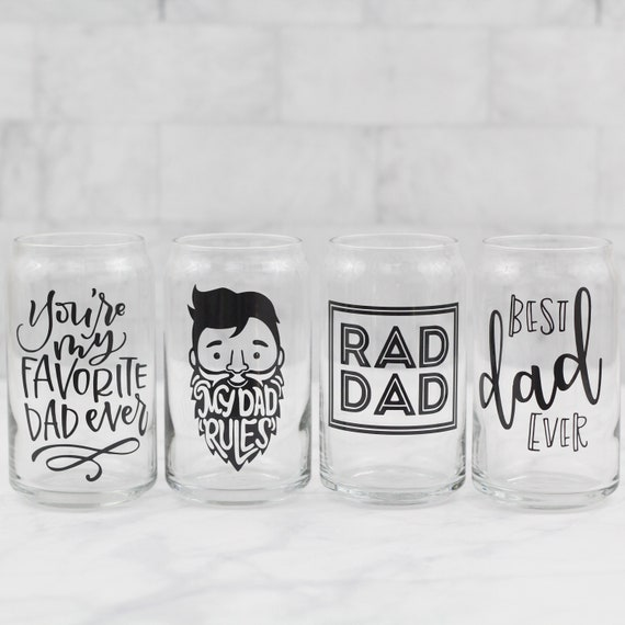 Fathers Day beer glass // Beer Glass for Dad