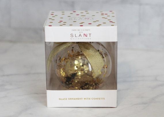 Slant Glass Glitter Ornament
