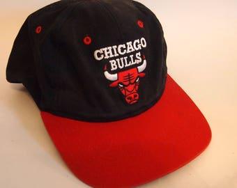Vintage 90s Chicago Bulls Snapback Hat