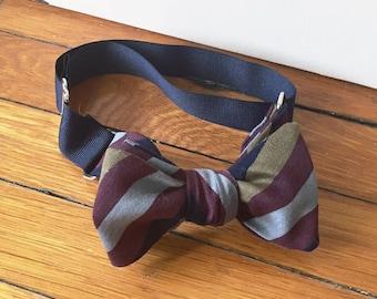 Stripes - Brown/Blue Bow Tie