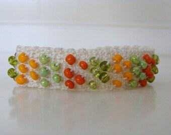 """Crochet Beaded Bracelet For 6 1/2"""" - 7"""" Wrist"""