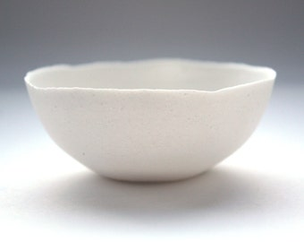 Small bowl. Decorative stoneware English fine bone china small bowl with a unique texture.