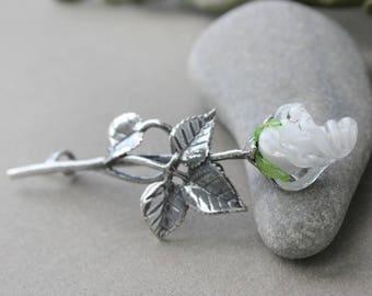 Brooch, Lampwork Brooch, Glass Brooch, Brooch Pin, Pin Brooch, Brooch Lampwork, Brooch Glass, Flower Lampwork Brooch, Floral Brooch