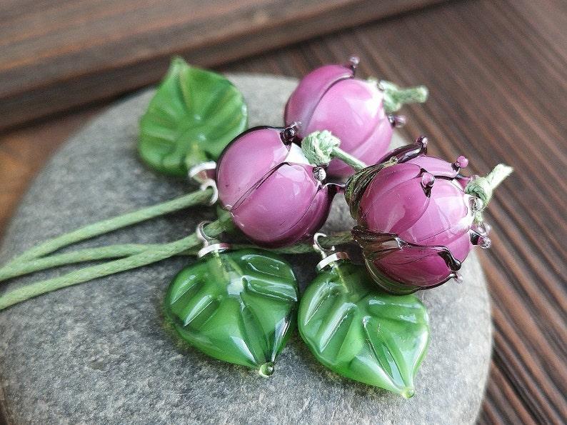 Lampwork Flower Bead