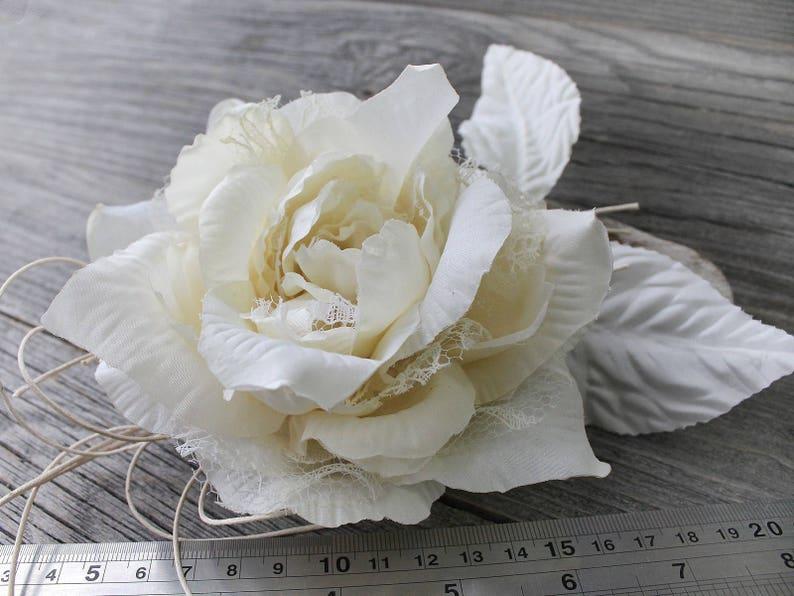 Artificial Flower, Ivory Flower Brooch, Rose Flower, Flower Hair Clip, Silk  Rose Brooch, Silk Flowers, Artificial Roses, Hairclip Flower