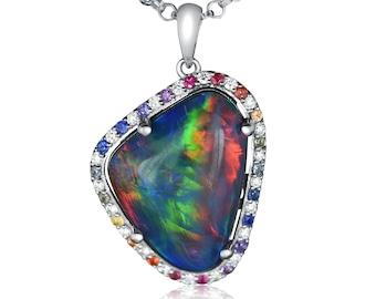 14 kt opal pendant bead Coober Pedy Australian semi Crystal uncut natural Opal Australian Natural solid opal pendant bead