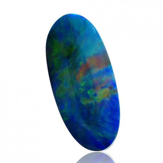 1,66 ct Doublet australien opale Lightning Ridge, Ridge, Ridge, Doublet en vrac opale pièce SKU: 1967U003 8c6780