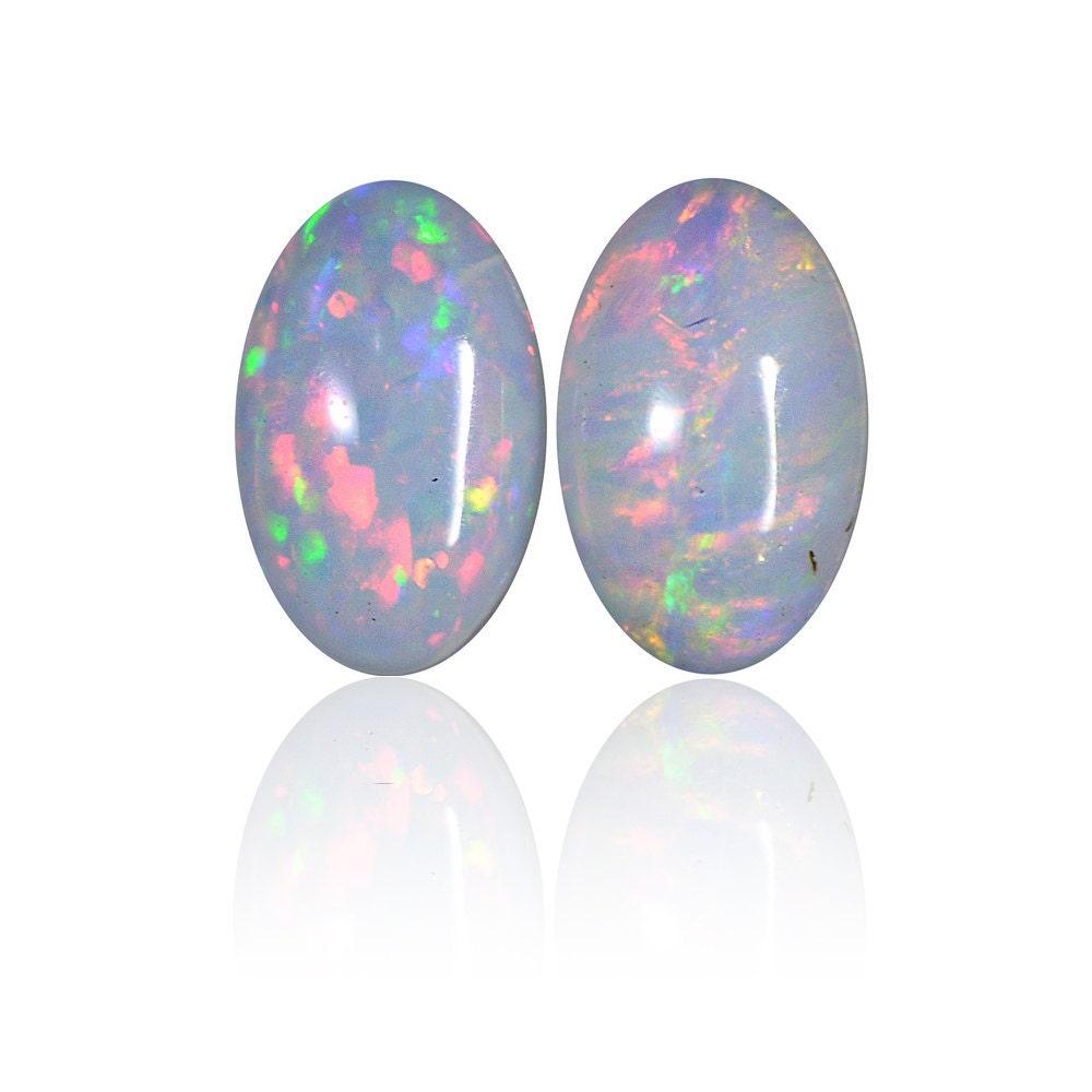 Correspondant de 0,26 ct paire solides opales australiennes blanches Coober opale Pedy, naturel non traité opale Coober lâche pièce SKU: 1943A006 28e9c6