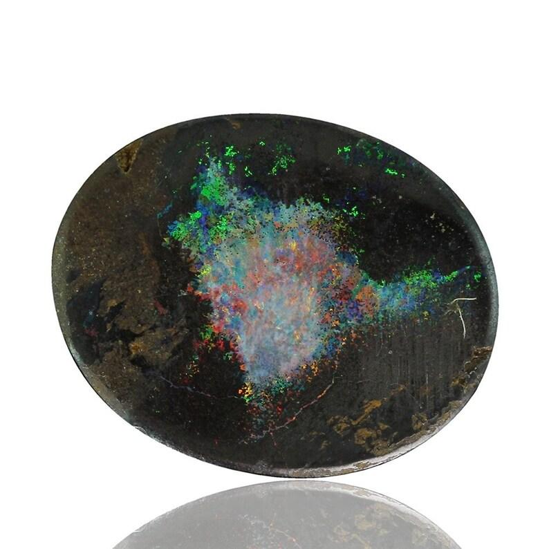 Natural Untreated Loose Opal Piece SKU 2.43ct Solid Boulder Australian Opal Queensland 1973A006