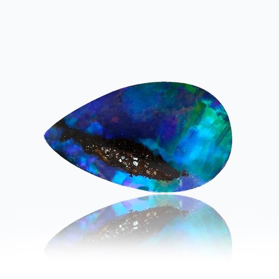 0,81 ct Boulder solide solide Boulder opale australienne Queensland, naturel non traité opale lâche pièce SKU: 1973FF006 a7ab40