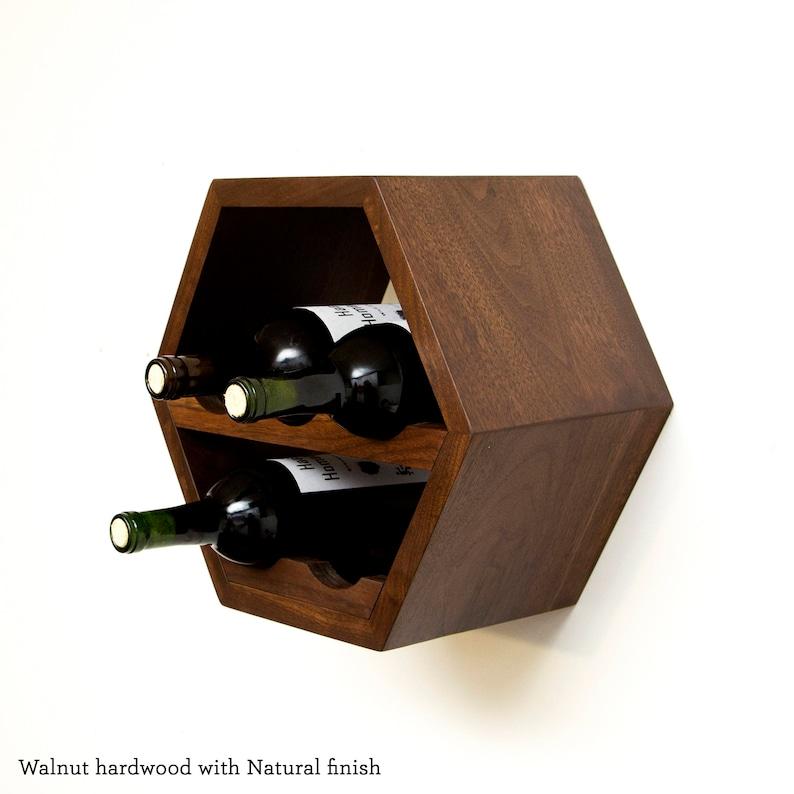 Hexagon Wine Rack, Honeycomb Wine Storage, Modern Wine Rack, Geometric  Kitchen Decor, Hanging Modular Wine Rack, Wine Gift Idea, Wine Lover