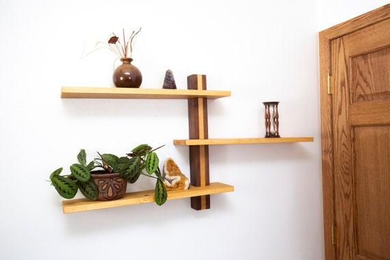 Moderne Wand-Regal, Holz Kunst Regale, Badezimmer Regale,  Housewarminggeschenk, Jahrestag Geschenk, minimalistischen  Inneneinrichtungen, geometrische ...