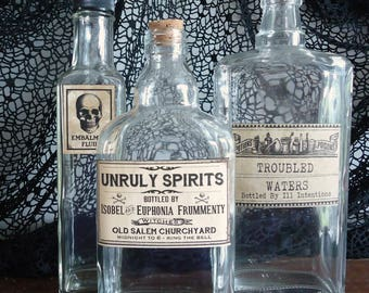 halloween bottles party decor unique funny halloween props haunted house mansion adult beverages bar decorations
