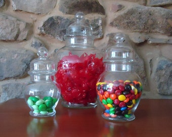 Ginger Jars, Apothecary Glass Storage Containers Candy Bar, Candy Buffet,  Bathroom Storage