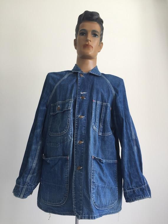 Rare Vintage Pay Day Workwear Denim Jacket 1950's/