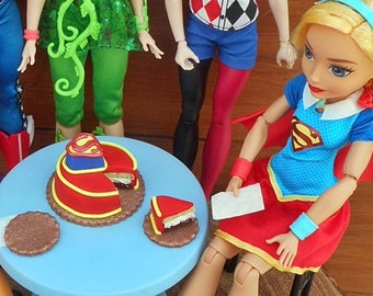 Doll Cake Inspired By DC Superhero Girls Custom Miniature Food Mini Dollhouse Scale