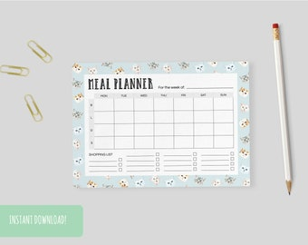 Meal Planner Cats | A4 and US letter size PDFs included – INSTANT DOWNLOAD