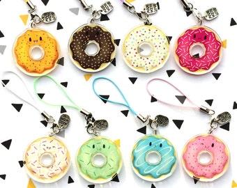 Acrylic clear charm Donut