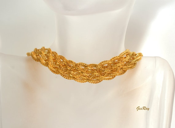 Monet Jewelry Multi Chain Collar Necklace, Cleopat