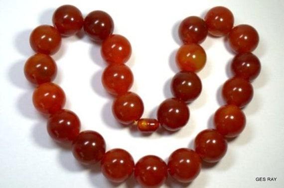 Art Deco Bakelite Necklace Dark Cherry Amber Swirl