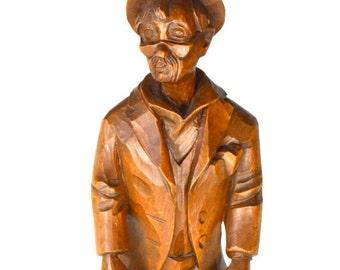 Vintage Wooden Carving Toni Baur Oberammergau Holzschnitzereien Wood Carved Sculpture Figurine Victoryissweet
