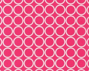 SALE 1 Yard Robert Kaufman Metro Living Circles Fabric in Fuchsia