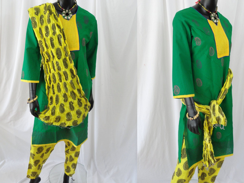 PURPLE bollywood ethnic kurta kurti blouse//top and pants f//sz 12//16