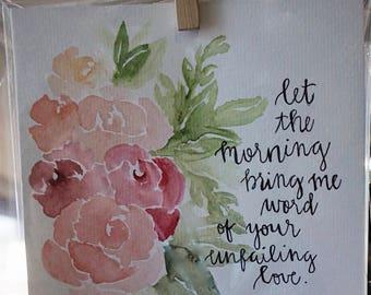 Custom Watercolor Scripture Painting