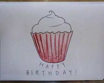 Watercolor Birthday Stationery