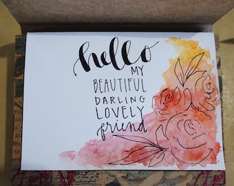 Watercolor Stationery Set