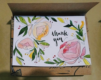 Thank You Watercolor Stationery
