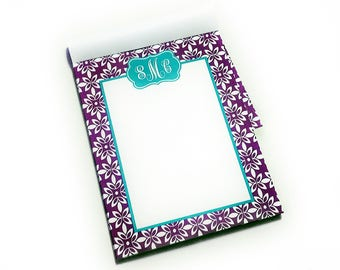 Monogram Notepad | Monogram Memo List Pad | Monogram Gift or Favor | Personalized [DYO]