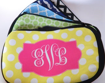 Personalized Cosmetic Bag | Monogram Makeup Case | Bridesmaid Emergency Kit