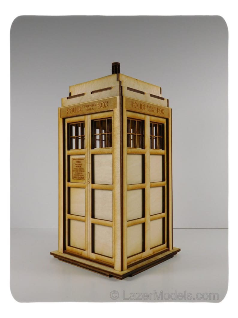 Wood Model Kits of The Tardis - Great Brain Teaser