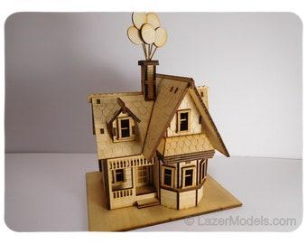 Wood Model Kit of Up House