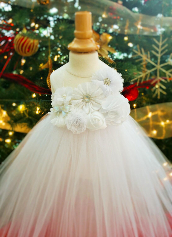 White Sparkle Christmas Tutu Dress - infant thru girls 10