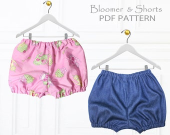 Baby Sewing Pattern pdf, Diaper Cover Pattern pdf, Nappy Cover, Baby Bloomer Pattern, Baby Pants Pattern, Baby Shorts Pattern, BABY BLOOMERS