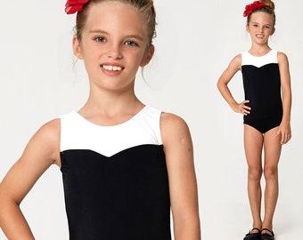 Girls leotard pattern PDF, ballet leotard pattern, gymnastics leotard pattern, girls sewing pattern pdf, dance sewing pattern LEOTARD #6