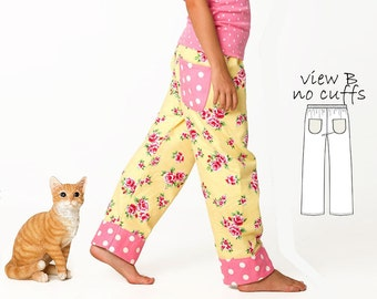 Pants Pattern pdf, Pants Sewing Pattern, Trouser Pattern, Childrens Sewing Pattern, PDF Sewing Pattern, Girls Pants Pattern, COMFY PANTS