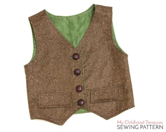 Vest Pattern Boys VEST pattern Toddler Vest Pattern Girls | Etsy