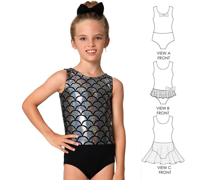 Gymnastics leotard pattern, dance pattern, swimwear pattern, girls ...