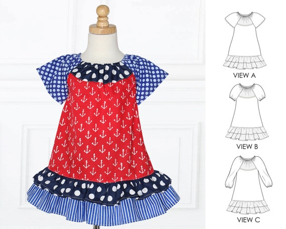 Baby Dress Pattern Baby Sewing Pattern Toddler Dress Etsy