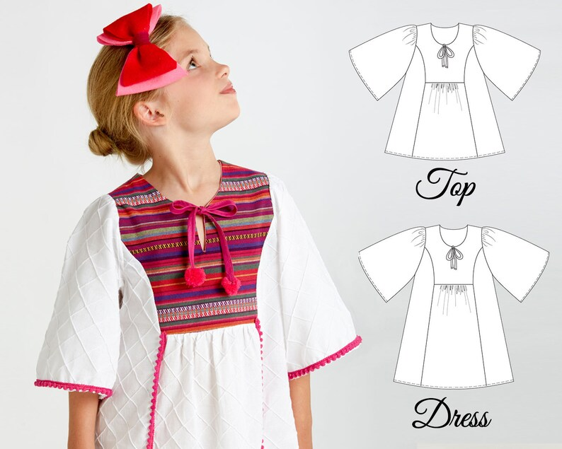 Girls Dress Pattern Girls Top Patterns Tunic Patterns Girls  9b7127996