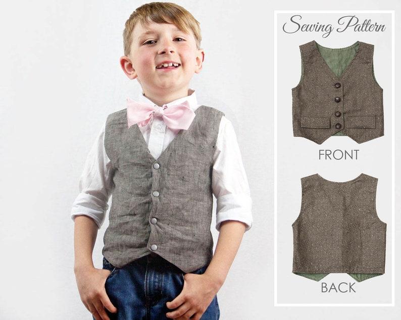 6f6abeacc Boys VEST Pattern, Toddler vest pattern, Boys Sewing Pattern pdf, Vest  Pattern, Waistcoat Pattern, Girls Vest Pattern, Vest Sewing Pattern