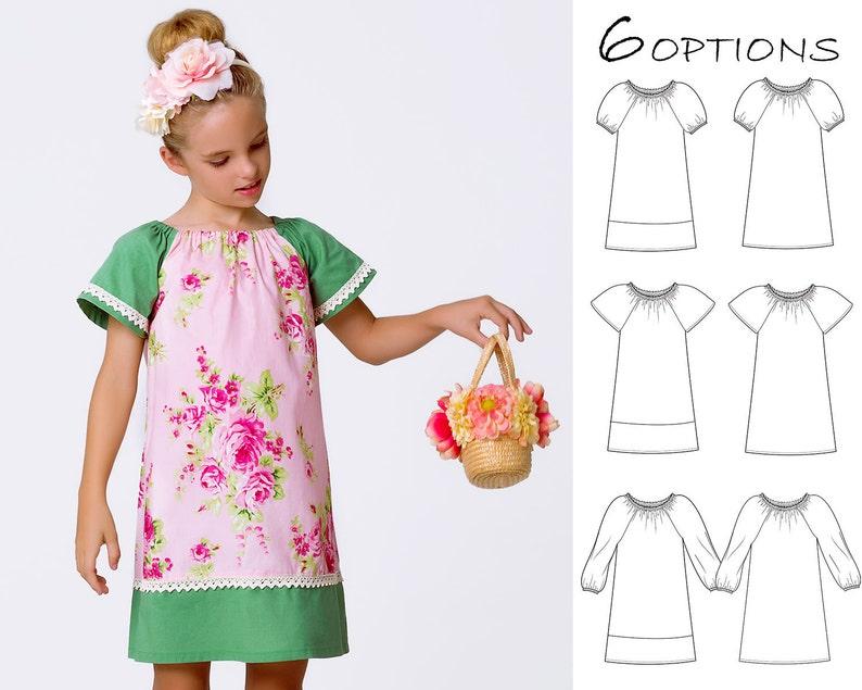 80cd0c146 Peasant dress pattern pdf girls sewing pattern pdf girls | Etsy