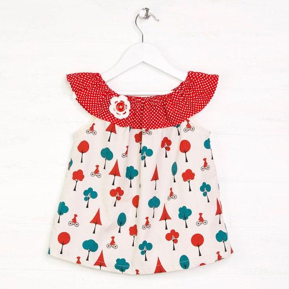 Girls sewing patterns girls top pattern girls patterns | Etsy