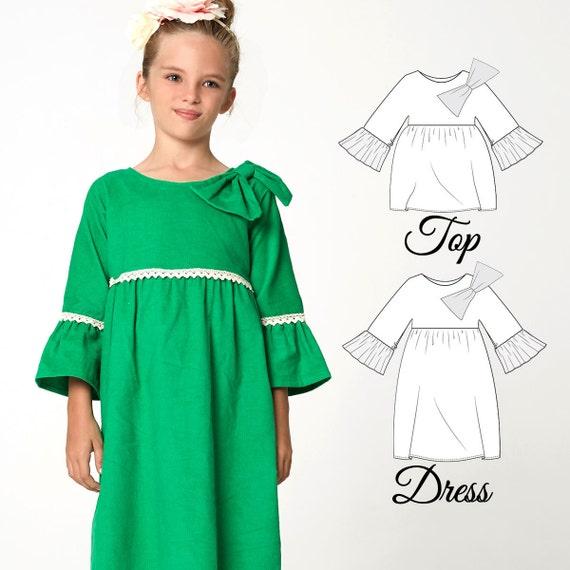 Girls Dress Patterns PDF, Top Patterns, Girls Sewing Pattern pdf ...