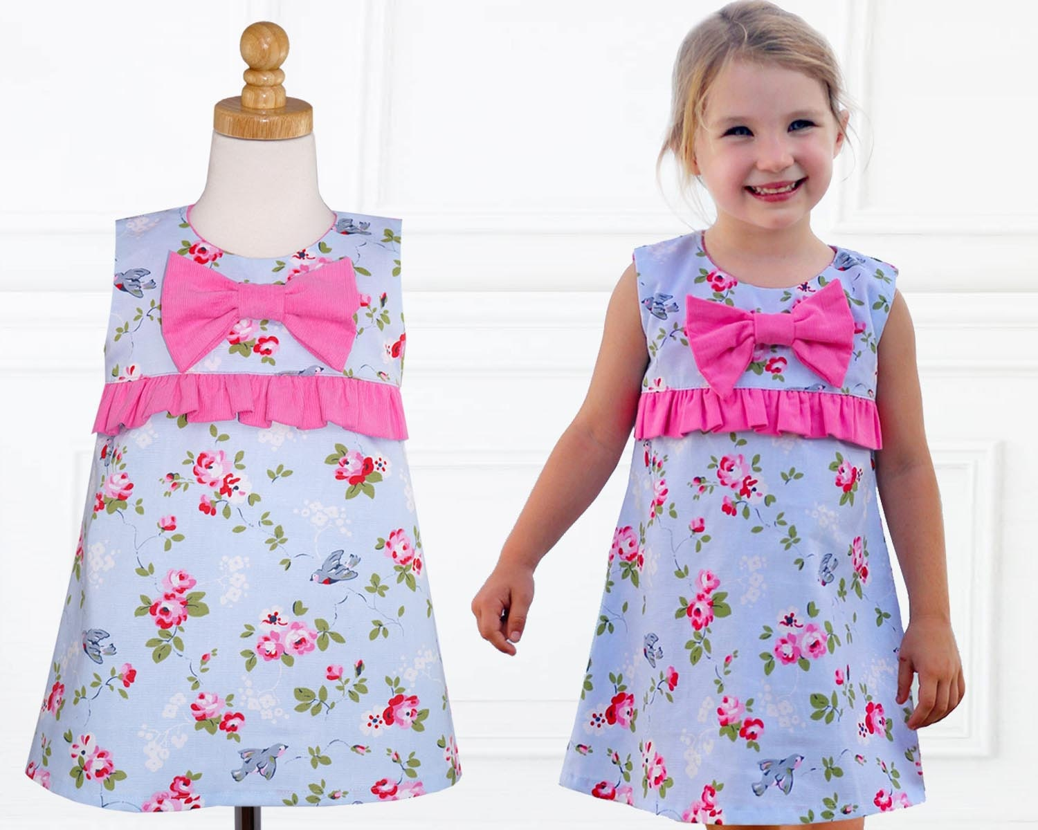 3a072241b22ab Girls Dress Patterns, Dress Sewing Pattern, Little Girls Dress Patterns  PDF, A-line Dress Pattern, Frock Patterns for Girls LUCY